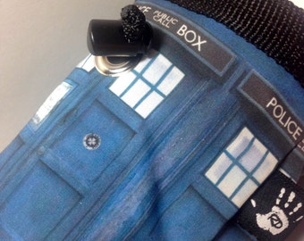 Doctor Who Police Box Chalkbag Blue and White Rock Climbing Bag Fleece Lined