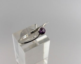 Silver Alexandrite band ring