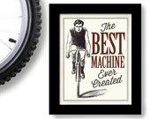Bicycle Gift, Vintage Bicycle Art, Cycling Art, Bicyclist, Bike Rider, Cyclist
