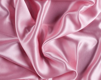 """45"""" Wide 100% Silk Charmeuse Pink By the Yard (1000M114)"""