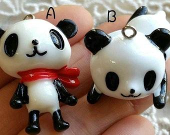 Cute Resin Panda Charm Pendants (t.cg)