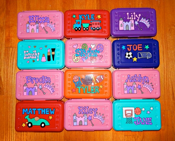 Personalized Pencil Box Hand Painted