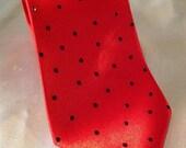 Soma Tanveer Special Order Red Necktie with Black Rhinestones