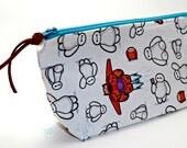 Handmade Baymax Fabric Cosmetic Make-up Bag / Pencil Case