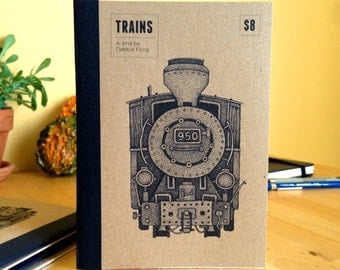 Trains -  An Illustrated Zine of Locomotive Engines