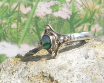 Sterling silver abalone ladies / womens ring
