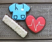 Nurse Appreciation Gifts / Gifts for Nurses / Gifts for School Nurses / Gifts for Nurses Day / Nurse Sugar Cookies - 12 cookies