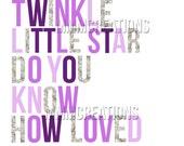 Twinkle Twinkle Little Star- Purple and Silver