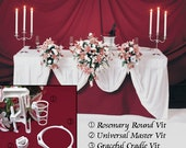 5 BOUQUET DISPLAYS - Wedding Reception Table Decoration Flower Holders. Bouquet Holder Holds Your Bridal Bouquet.