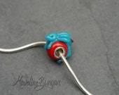 Adorable Glass Bunny - Silver Cored Lampwork Glass Bead