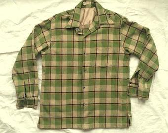 vintage GANT WOOLSTER Flannel Shirt - 1950's - Size Large