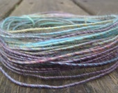Fiber Wire Core Handspun Art Yarn 24 gauge wire Red Riding Hoods Wolf- Little Ponies