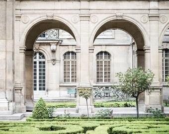 Paris Photography - Carnavalet Museum Garden, Fine Art Photography Print, Neutral French Home Decor, Large Wall Art
