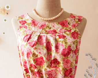 SWEET TEA PARTY : Floral Dress Tea Party Dress Floral Sundress Floral Prom Dress Party Dress Floral Bridesmaid Dress- Size xs-xl, Custom
