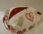 CLEARANCE  Valentine's Day Box Zipper Pouch