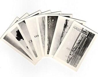 Miniature Photo Lot Worlds Greatest Bridges Black & White Photos 1940s Miniature Photographs for Scrapbooking Travel Journals Junk Journals