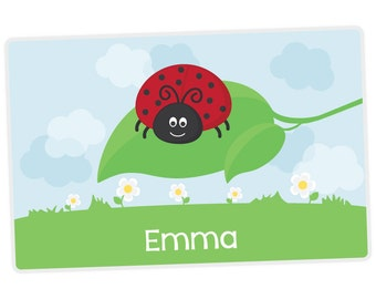 Ladybug Placemat - Personalized Placemat for Kids - Childrens Placemat - Set The Table - Laminated Placemat