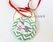 Personalized Polar Bear Christmas Ornament Baby's First Christmas - Monogram Christmas Ornament - Custom Ornament
