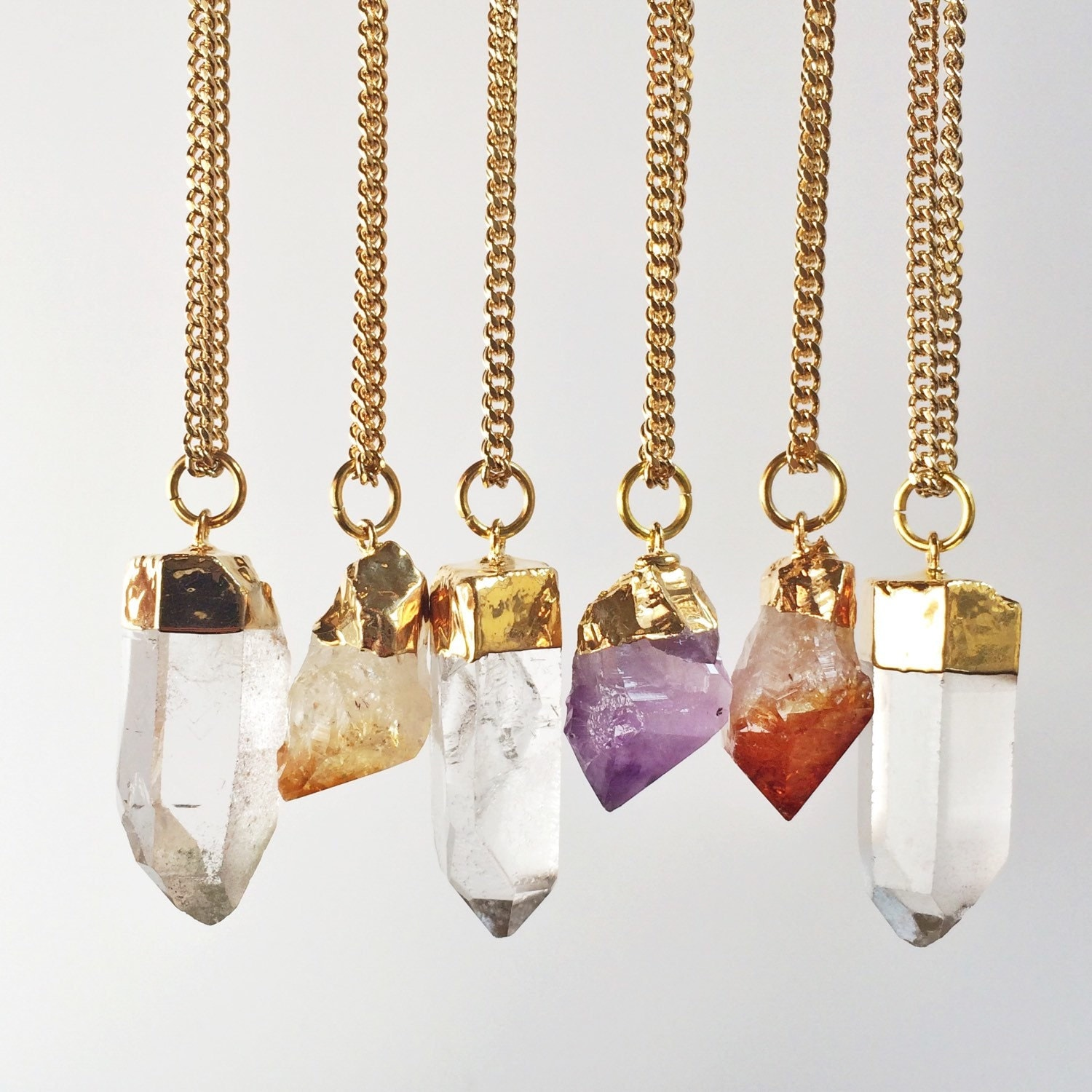 Raw Crystal Necklace A...
