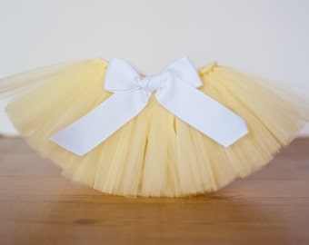 Yellow tutu 'Goldie'  pastel newborn tutu yellow baby tutu sunshine photo prop birthday tutu 3 6 9 12 18 24 month Easter tutu spring tutu
