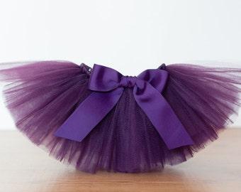 "Plum tutu ""Lori"" Newborn baby tutu photo prop birthday tutu skirt 3 months 6 months 9 months 12 months 18 months purple tutu tulle skirt"