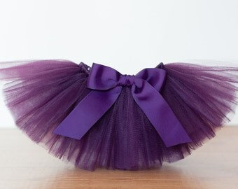 "Plum purple ""Lori""  tutu kids tutu sizes 2, 3, 4, photo prop wedding flower girl birthday tutu 2T 3T 4T toddler tutu skirt dark purple tutu"