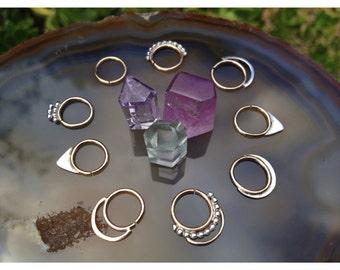 NOVA HOOP // 14k Gold Septum Ring