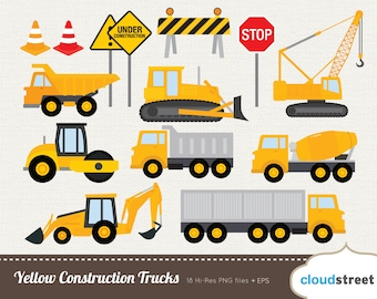 BUY 2 GET 1 FREE Yellow Construction Truck clipart - construction truck clip art - construction clipart - construction clip art