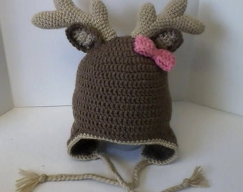 "Children's ""Little Deer"" Hat with Ear Flaps"