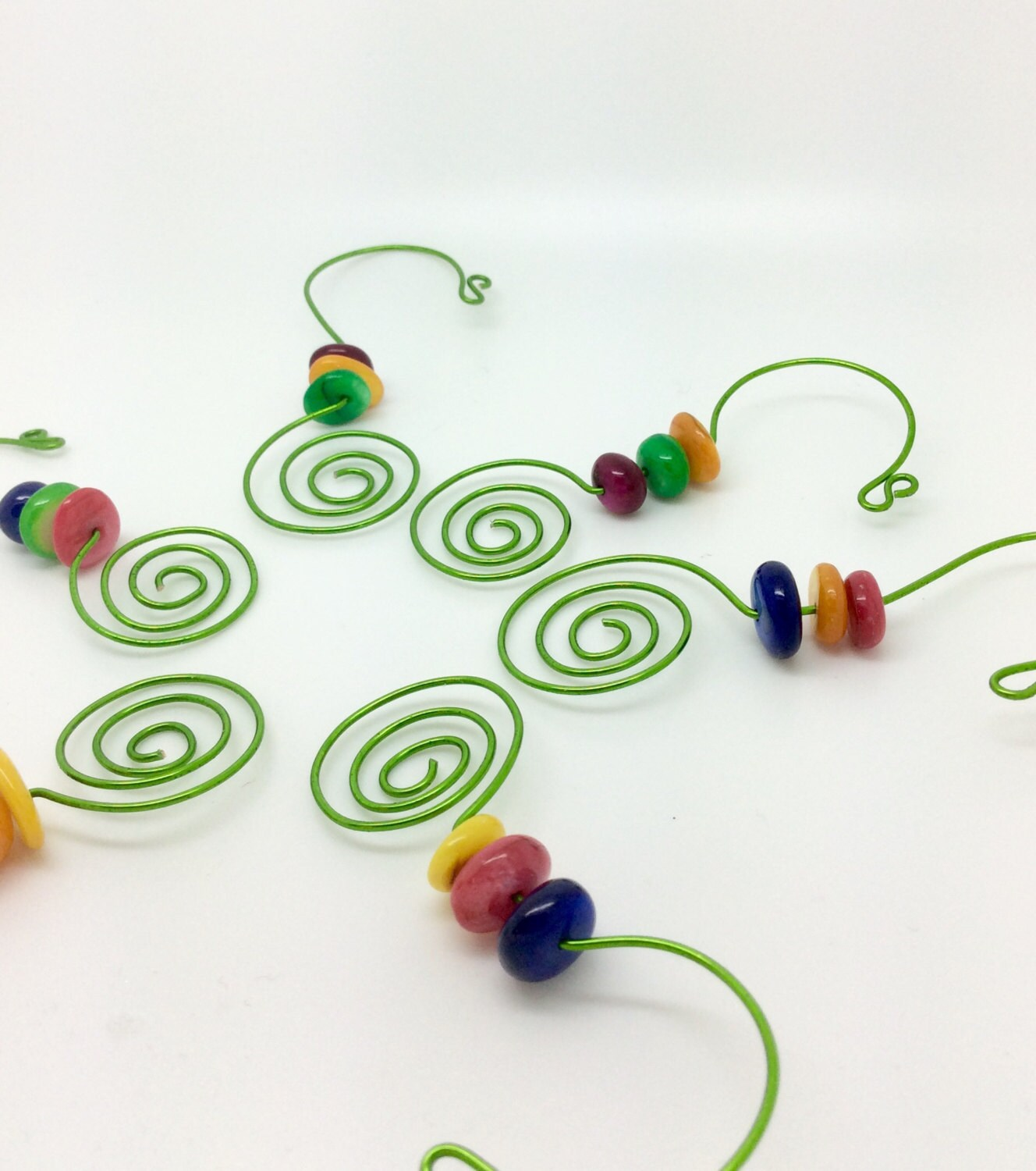 Fun Beaded Christmas Ornament Hooks Multi Colored by ...