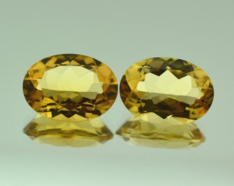9.12 Ct Natural Yellow Citrine Gemstone Faceted Oval Cut 16x12 mm