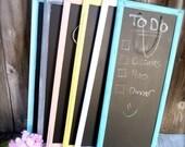 Hanging Chalkboard - Shabby Chic Narrow Painted Chalkboard - New