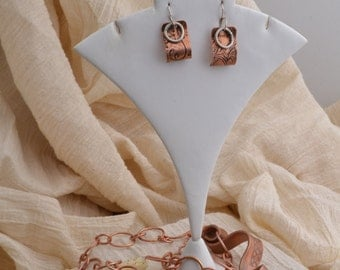 Copper and Sterling Earrings.  FREE SHIPPING