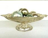 Vintage Silver Plated Bowl on Pedestal