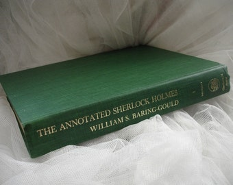 Vintage Sherlock Holmes book // The Annotated Sherlock Holmes  Vol. 1 by William S. Barring-Gould