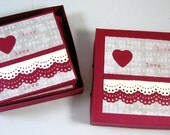 3 x 3 Mini Card Set - 12 Cards and Envelopes in matching box, Lunch box cards