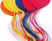 12 Primary color balloon die cuts, Birthday Balloons, Balloon Embellishment, Pick your color