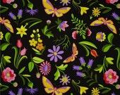 Jane Sassaman Fabric - Free Spirit - Sweet Lady Jane Party Frock - Rose - Choose Your Cut-1/2 or Full Yard