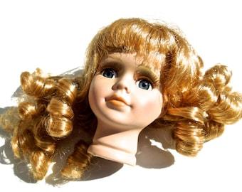 VINTAGE: Porcelain Doll Head - Doll Making