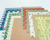 24 Sheets Vintage Mixed Print Origami Square Paper Pack - 15cm x 15cm Crafting Scrapbooking