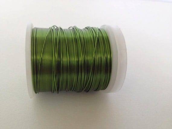 Craft supply copper wire 24 gauge wire grass green craft for 24 gauge craft wire