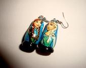 Anna and Elsa (Frozen) Doll Earrings