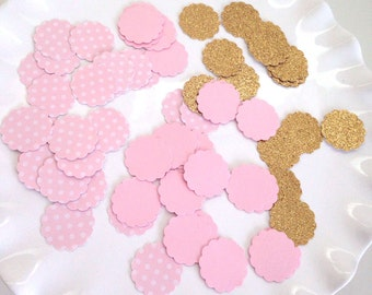 Pink and Gold Confetti    Pink and Gold Party    1st Birthday Decor    Table Decor    Candy Buffet Decor    100 CT