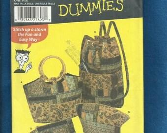 Simplicity 5076 Fabric Purses Cosmetic Bag & Pack UNCUT