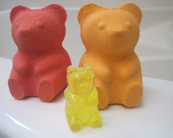 LARGE Gummy Bear bath bomb with Gummy Bear Soap Inside