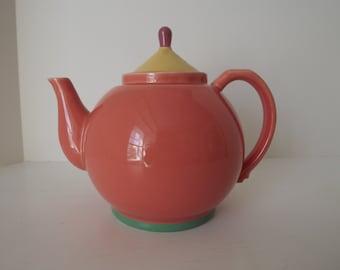 John Lindt-Stymeist Colorways Tea Pot, Art Pottery,  Kitchen Decor, Lindt-Stymeist Collector Tea Pot Collector, Circa 1988