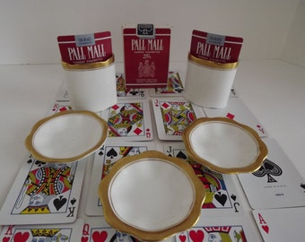 Rare Coleport China Elite Collection, Unopened  Pall Mall Famous Cigarettes 25's Playing Cards, Vintage Smoking Memorabilia,  Circa 1970's