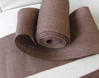 5 inch chocolate Brown burlap ribbon