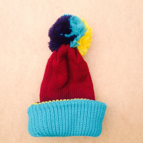 Vintage 0-6 Months Baby Bobble Hat  Beanie Unworn Deadstock 90s Pom Pom