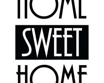 Home Sweet Home Quote ......Removable Wall Art Vinyl Decal sticker